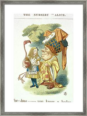 Alice With Her Croquet Framed Print by British Library