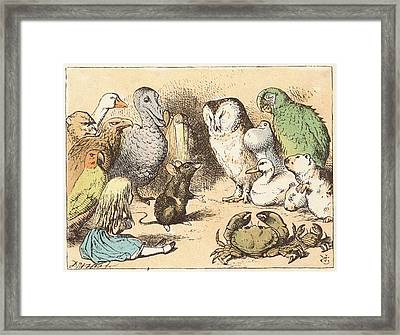 Alice's Adventures In Wonderland Framed Print by Mid-manhattan Picture Collection/new York Public Library