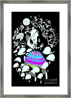 Alice's Magic Discovery Framed Print by Sassan Filsoof