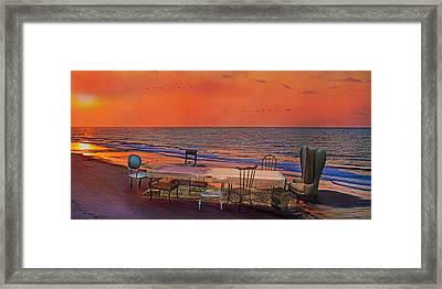Alice's Topsail Island Tea Framed Print by Betsy C Knapp