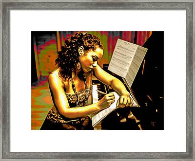 Alicia Keys Framed Print by  Fli Art