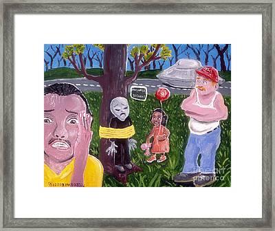 Alien Abduction Framed Print by James McFarlin