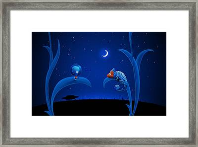 Alien And Chameleon Framed Print by Gianfranco Weiss