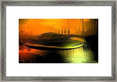 Alien Arrival Framed Print by Christian Simonian