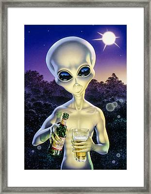 Alien Brew Framed Print by Steve Read