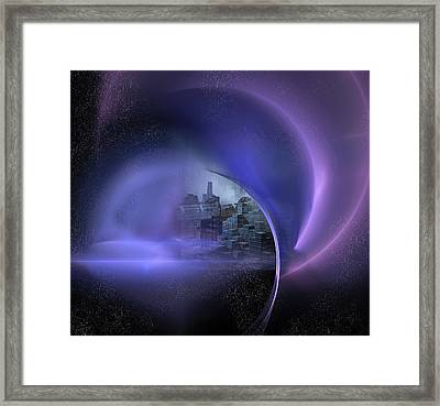 Alien City Framed Print by Carol & Mike Werner