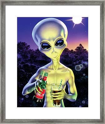 Alien Cola Framed Print by Steve Read