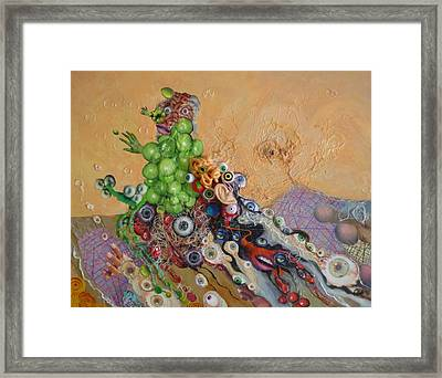 Alien Dog Pile Framed Print by Douglas Fromm