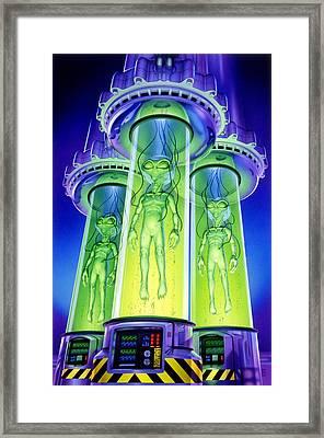 Alien Experiment Framed Print by Steve Read