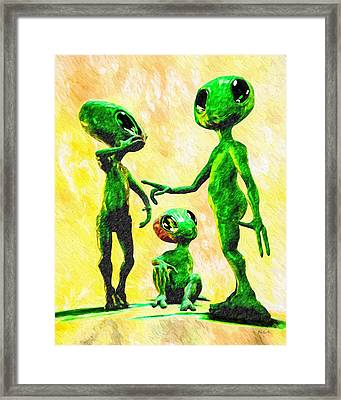 Alien Family Unit Framed Print by Bob Orsillo