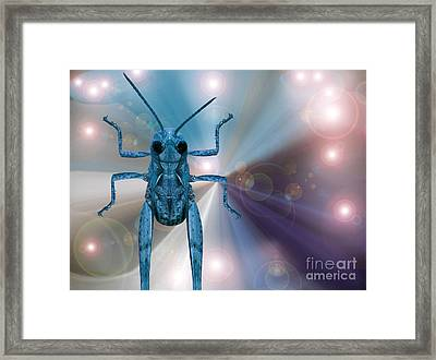 Alien In Cosmos Framed Print by Pierre Dumas