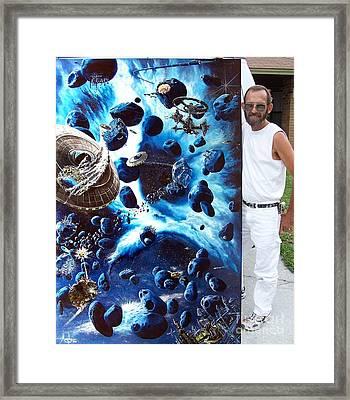 Alien Pirates Framed Print by Murphy Elliott