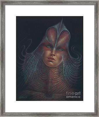 Alien Portrait Il Framed Print by Ricardo Chavez-Mendez