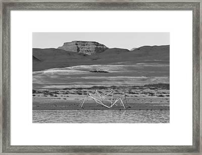 Alien Wreckage Bw - Lake Powell Framed Print by Julie Niemela