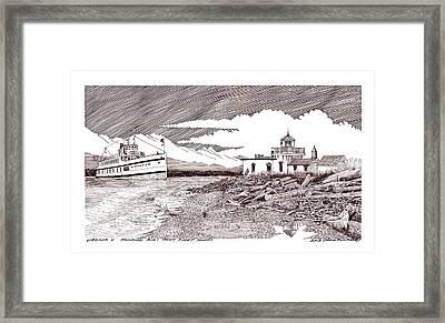 Steamship Virgina V Rounding Alki Point Seattle Framed Print by Jack Pumphrey