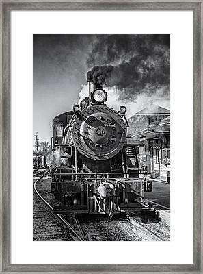 All Aboard Bw Framed Print by Susan Candelario