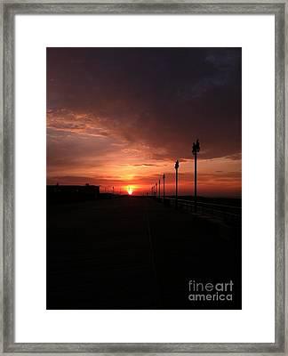 All Along The Boardwalk Framed Print by John Telfer