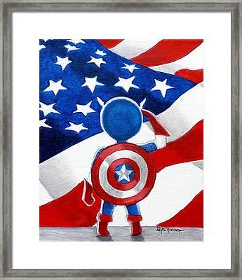 All American Boy Framed Print by Al  Molina