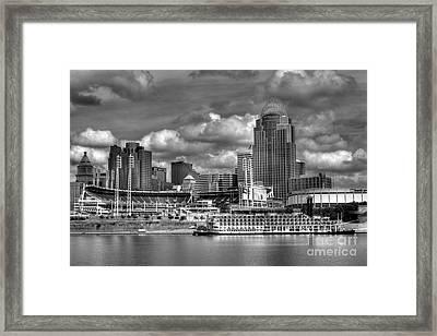 All American City Bw Framed Print by Mel Steinhauer