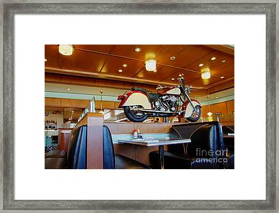 All American Diner 4 Framed Print by Bob Christopher