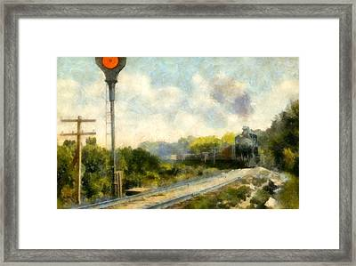 All Clear On The Pere Marquette Railway  Framed Print by Michelle Calkins