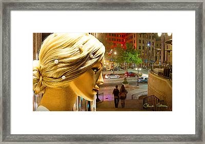 All Dressed Up And No Place To Go Framed Print by Chuck Staley