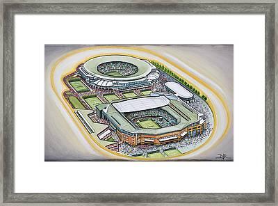All England Lawn Tennis Club Framed Print by D J Rogers