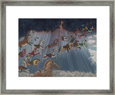 All Good Horses Go To Heaven Framed Print by Holly Wood