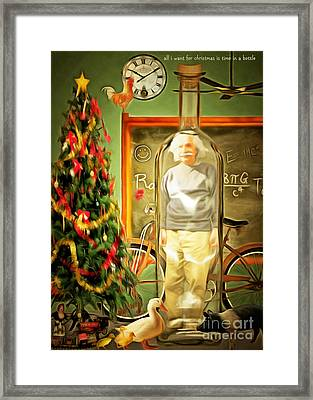 All I Want For Christmas Is Time In A Bottle 20140923 Framed Print by Wingsdomain Art and Photography