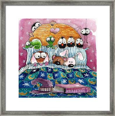 All In The Bed Framed Print by Lucia Stewart
