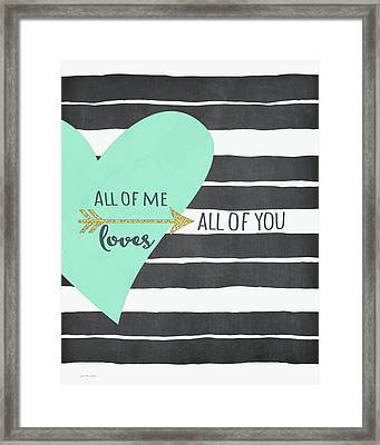 All Of Me Framed Print by Jo Moulton