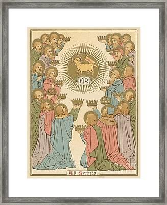 All Saints Framed Print by English School