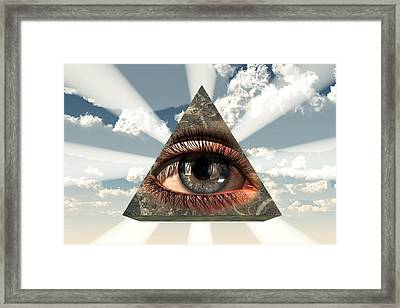 All Seeing Eye Framed Print by Christian Art