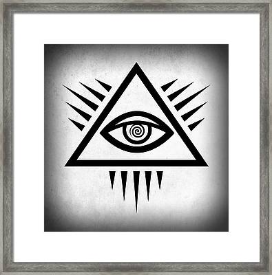All Seeing Eye Framed Print by Daniel Hagerman