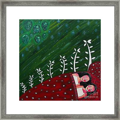 All Sown Up Framed Print by Sandra Marie Adams