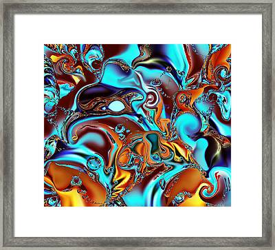 All That Jazz Abstract Framed Print by Faye Giblin