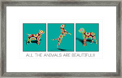 All The Animal Are Beautiful  Framed Print by Mark Ashkenazi