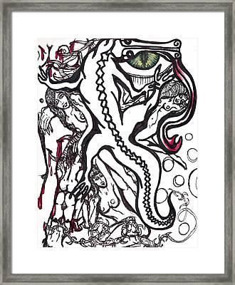 All The Girls Draw On Vinny's Bathroom Wall So Did I Framed Print by Tiffany Selig
