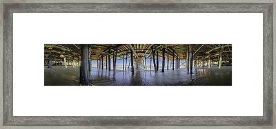 All The Way Under The Pier Framed Print by Scott Campbell