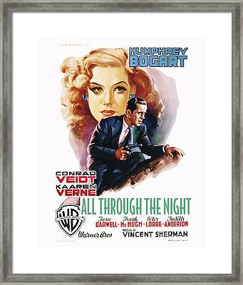 All Through The Night Movie Poster Bogart Framed Print by MMG Archive Prints