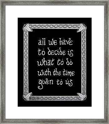 All We Have Framed Print by Noah Thompson