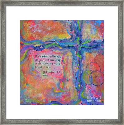 All You Need Framed Print by Deb Magelssen