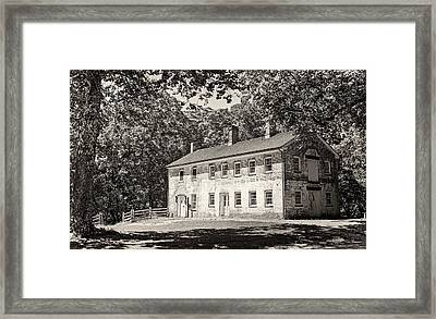 Allaire Carpentry Shop Bw Framed Print by Heather Applegate