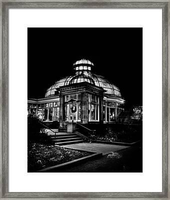Allan Gardens Conservatory Palm House Toronto Canada Framed Print by Brian Carson