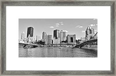 Allegheny River Pittsburgh Framed Print by Frozen in Time Fine Art Photography