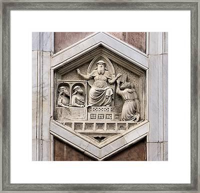 Allegorical Depiction Of Legislation Framed Print by Sheila Terry