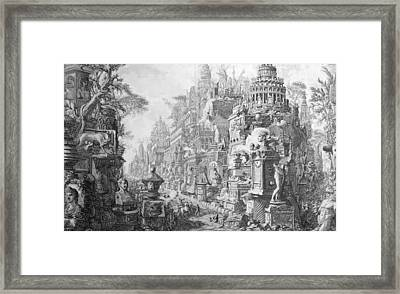 Allegorical Frontispiece Of Rome And Its History From Le Antichita Romane  Framed Print by Giovanni Battista Piranesi