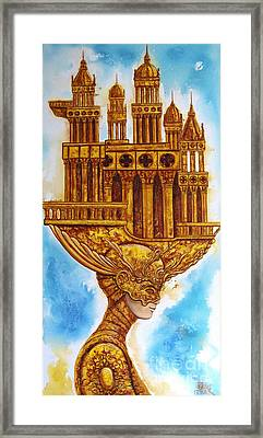 Allegory Of Architecture Framed Print by Sergey Malkov