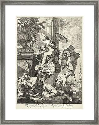 Allegory Of Fortuna And Science, Dancker Danckerts Framed Print by Dancker Danckerts