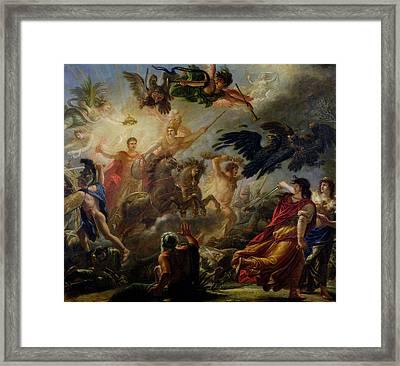 Allegory Of The Battle Of Austerlitz, 2nd December 1805 Oil On Canvas Framed Print by Antoine Francois Callet